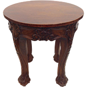 Ornate Mahogany Occasional Table or Pedistal