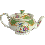 Rockingham Green Teapot Parogon England 1970's