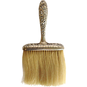 Repousse Clothes Brush Sterling 19th c