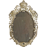 Oval Crown Sterling Frame with Cornucopia