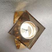 Boucher Lucite/Chrome Watch