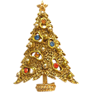 Art Modernistic Christmas Tree Pin