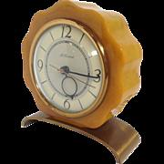SOLD Bakelite McClintock Clock With Brass Base
