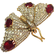Kenneth J Lane Trembler Butterfly Pin Movable Wings