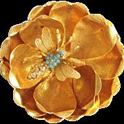 Hattie Carnegie Flower And Bee Pin