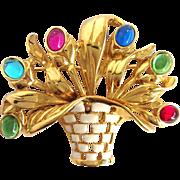 Doncaster Flower Basket Pin