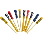 Ten Ivorine or Celluloid Cigarette Holders 1930's