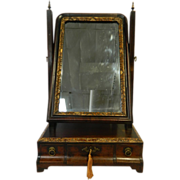 George II Mahogany Dressing Mirror -18th Century