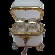 White Opaline Scent Casket