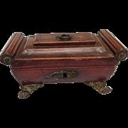 Regency Leather Work Box Early 19thC