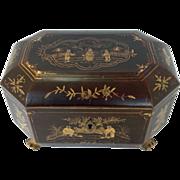 Regency Tea Caddy Chinoiserie 19th c
