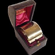 Napkin Ring In Presentation Box Sterling C. 1888