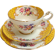 English Paragon 'Rockingham' Tea Cup Saucer And Plate C. 1923
