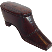 Antique Snuff Shoe Box England c.1880