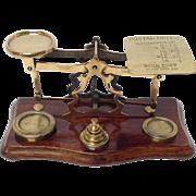 Postal Scales Brass by Parkins & Gotto London