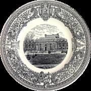"""US Naval Academy Plate """"Bancroft Hall"""" Spode Circa 1932"""