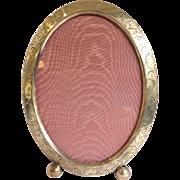 Oval Frame Engraved Sterling Antique Circa 1900 Monogrammed