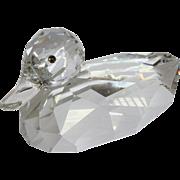 "Swarovski Giant Mallard Cut Crystal 9 1/2"" Duck Figure"