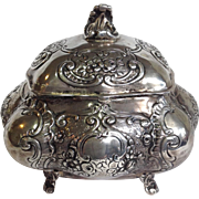 German Footed Box 800 Silver