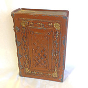 Realistic Book Box Metal Painted Antique