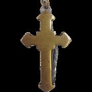 Brass Cross Fob -Hidden  Knife