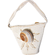 Vintage French Beaded Bucket Handbag