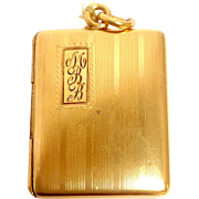 Antique Square Locket Gold-Filled Mono MBB