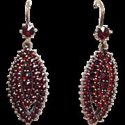 Bohemian Garnet Earrings Gold Filled Victorian