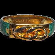 Signed VITA Clamper Bracelet with 24KT Gold Plated Trim