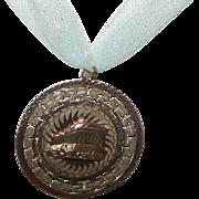 Vintage 14 Karat Yellow Gold Greek Medallion