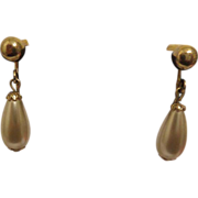 SALE Signed Vintage Sarah Coventry Earrings Simulated Pearl Dangle Earrings