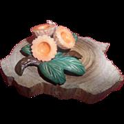 SALE Vintage Celluloid Flower/Fruit Pin