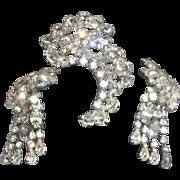 SALE Signed Vintage Kramer Brooch and Earrings