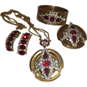 SALE Vintage Signed McClelland Barclay Necklace Brooch and Bracelet
