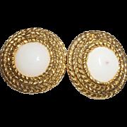 SALE Vintage Signed Chanel Rope Motif Earrings
