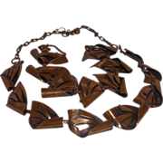 Vintage Copper Necklace and Bracelet