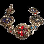 SALE Vintage Faceted Lucite Baroque Style Bracelet
