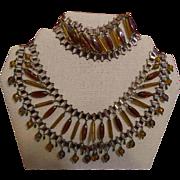Vintage Egyptian Revival Necklace and Bracelet