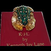 SALE Vintage Signed KJL Critter-Frog Prince Book Piece