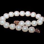 Vintage Simulated Pearl Bracelet