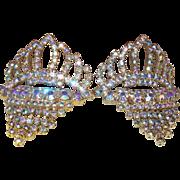 SALE Vintage Aurora Borealis Shoe Clips