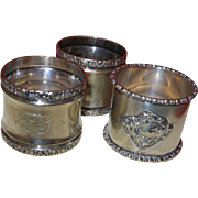 Vintage Silverplate Napkin Rings