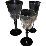 SALE 24 Pieces of Art Deco Glass Stemware
