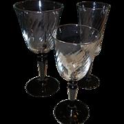 SALE 24 Pieces of Art Deco Glass Stemware