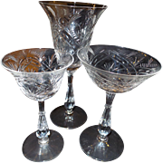 SALE 28 Pieces of  1949 Fostoria Crystal Stemware