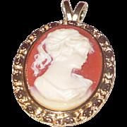 Victorian Revival Cameo Pendant in Profile