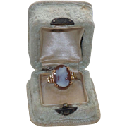 Antique Late Georgian/Early Victorian Cameo Ring in Original Jewelry Box