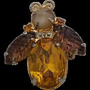 SALE Juliana Figural Bee Brooch