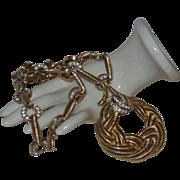 Vintage Hobe' Necklace with Pave Set Rhinestones