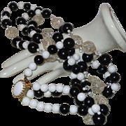 Vintage Plastic Double Strand Necklace